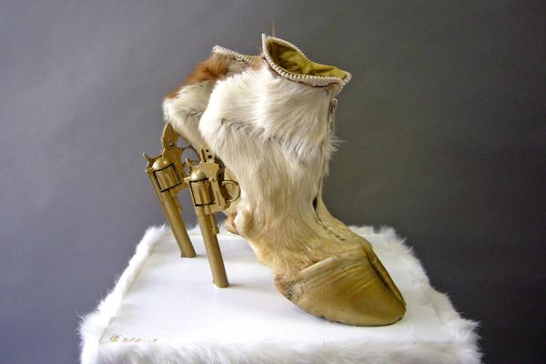Designer creates shoes made from real dead animal parts, Berlin,