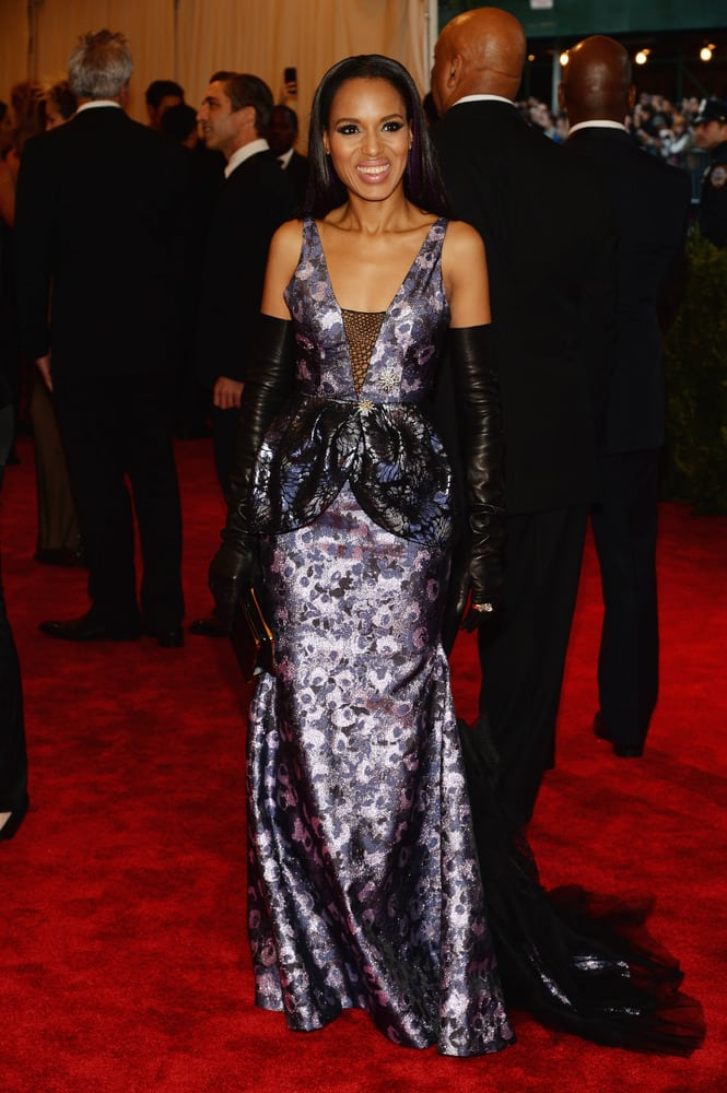 A nakonec vždy sladká Kerry Washington v dokonalé róbě královny Very Wang