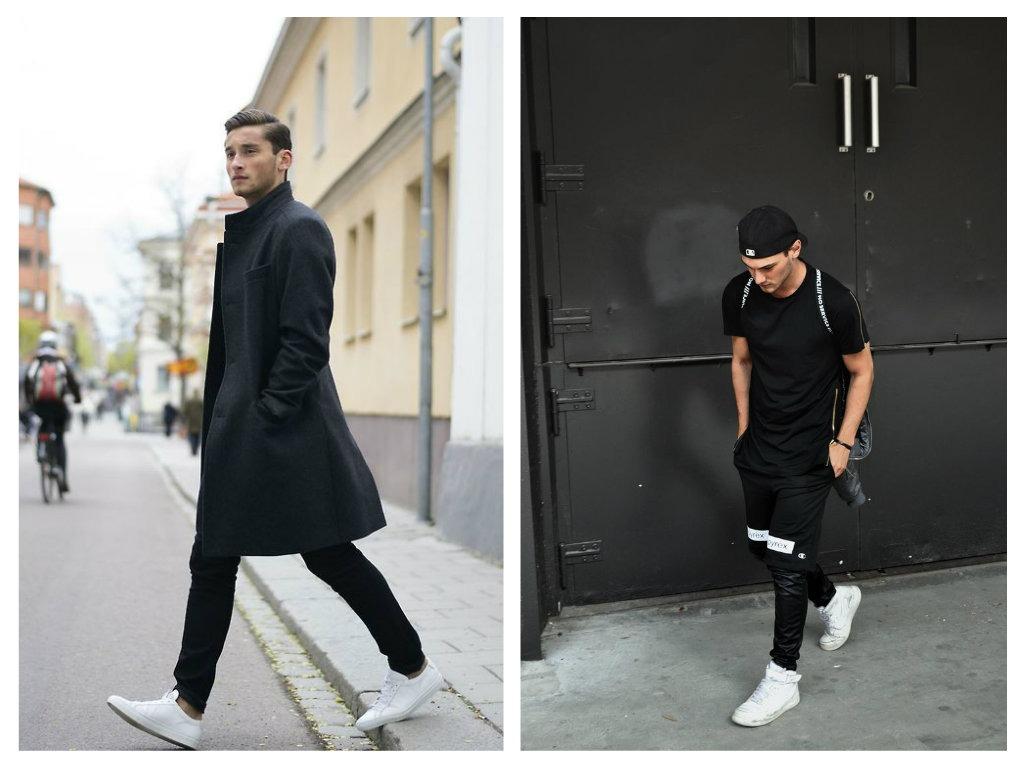 Bílá & černá - pánská móda 2015